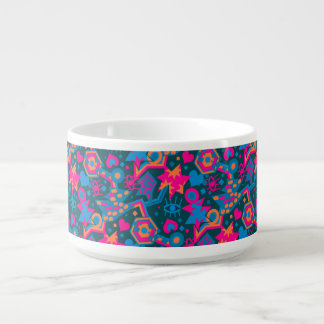 Eye heart pop art cool bright pink  pattern bowl