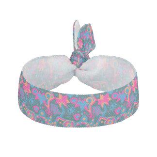 Eye heart pop art cool bright pink  pattern hair tie