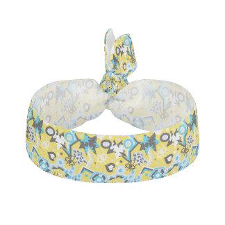 Eye heart pop art cool bright yellow pattern hair tie