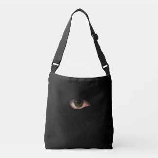 Eye in Black Crossbody Bag