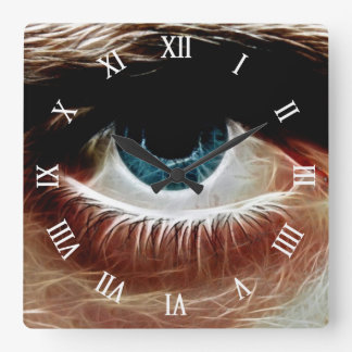 Eye l Window of The Soul l Abstract Art Square Wall Clock