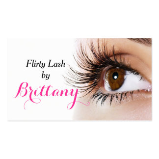 Eye Lashes Extensions Makeup Artist Cosmetologist Business Card Templates