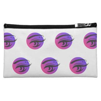 Eye Lashes Makeup Artist Logo Pattern Cosmetic Bag