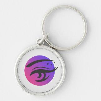 Eye Lashes Makeup Artist Logo Round Keychain
