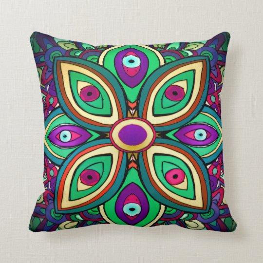 Eye Lotus Throw Pillow