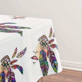 EYE Love FEATHERS Fantasy Art Tablecloth