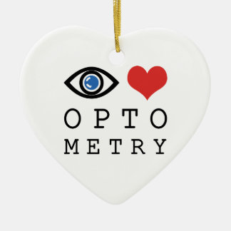 Eye Love Heart Optometry - Optometrist Eye Chart Ceramic Ornament