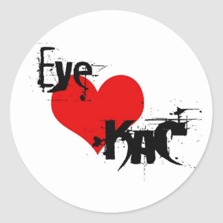 EYE LOVE KaC STicky Classic Round Sticker