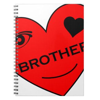 Eye Love My Brother Spiral Note Books
