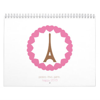 eye love paris. 2010. calendars