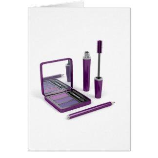 Eye make-up set card