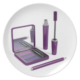 Eye make-up set plate