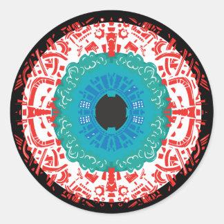 Eye Mandala Classic Round Sticker