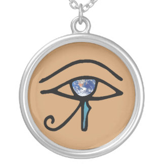 Eye Of Earth Silver Plated Necklace