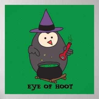 Eye of Hoot (Wizard Owl) Poster