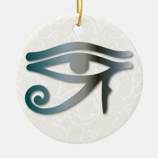 Eye Of Horus - Blue-Gray 1 - Ornament