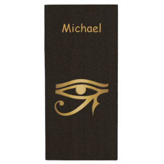 Eye of horus Egyptian symbol Wood USB Flash Drive