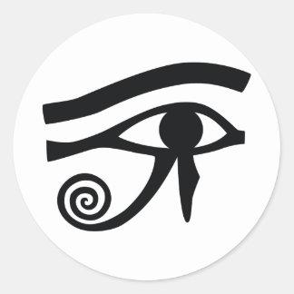 Eye of Horus Hieroglyphic Classic Round Sticker