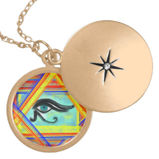 Eye of Horus Locket Necklace