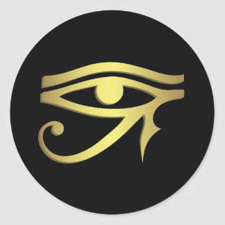 Eye of horus round sticker