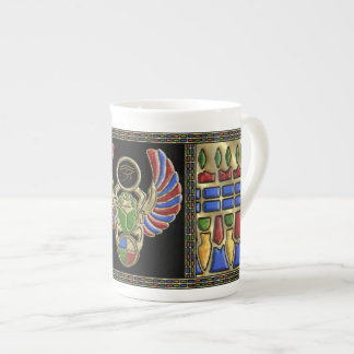 Eye of Horus Scarab Tea Cup
