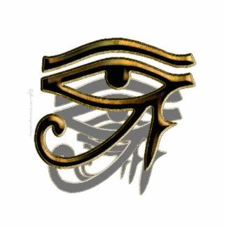 Eye of Horus Sculpture Photo Sculpture Button