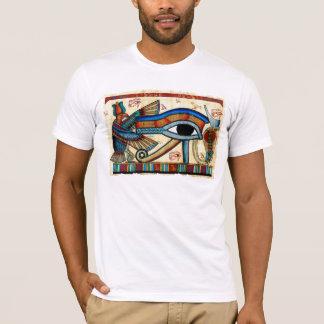 """Eye of Horus""  Wadjet White T-Shirt"