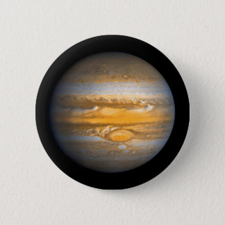 Eye of Jupiter Planet from Outer Space 2 Inch Round Button