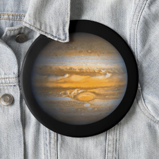Eye of Jupiter Planet from Outer Space Jumbo 6 Inch Round Button