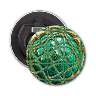 Eye of lizard button bottle opener