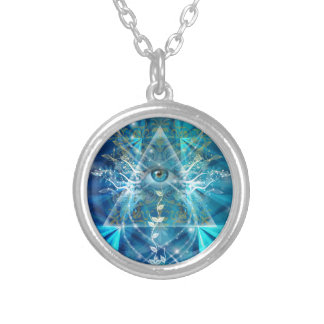 Eye of Osiris Silver Plated Necklace