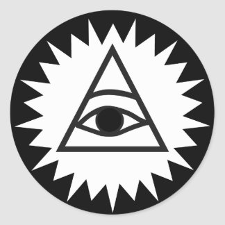 Eye of Providence Classic Round Sticker