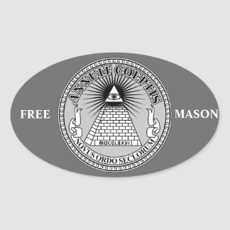 Eye of Providence Oval Sticker