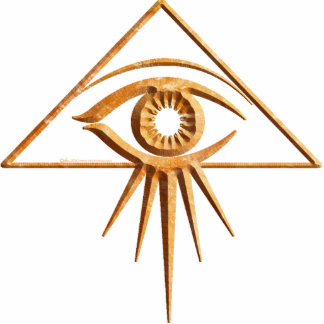 Eye of Providence Stone Standing Photo Sculpture