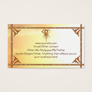 Eye of Providence Sunburst Introduction Card