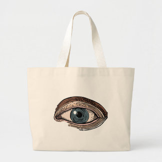 Eye of Providence (transparent) Large Tote Bag