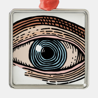 Eye of Providence (transparent) Metal Ornament