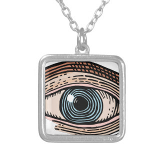 Eye of Providence (transparent) Silver Plated Necklace