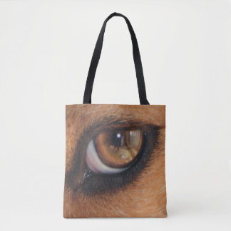 Eye Of The Beagle Reflection Tote Bag