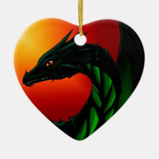 Eye of the Dragon Ceramic Heart Ornament