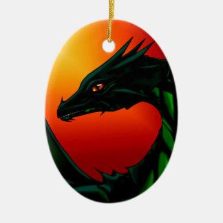 Eye of the Dragon Ceramic Oval Ornament