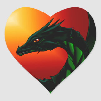 Eye of the Dragon Heart Sticker