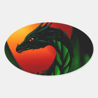 Eye of the Dragon Oval Sticker