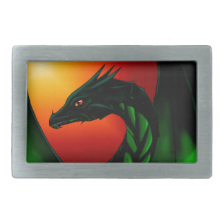 Eye of the Dragon Rectangular Belt Buckle