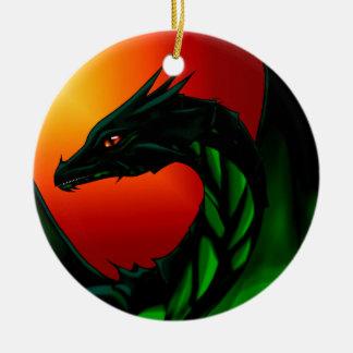 Eye of the Dragon Round Ceramic Ornament