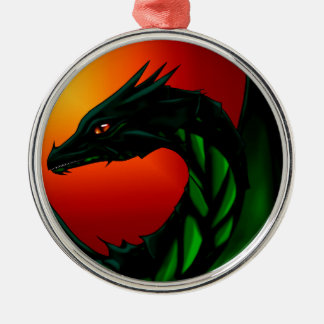 Eye of the Dragon Silver-Colored Round Ornament
