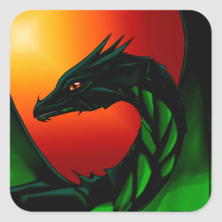 Eye of the Dragon Square Sticker