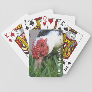 Eye of the Duck Close-Up Photograph Playing Cards