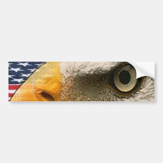 EYE OF THE EAGLE (USA PATRIOTIC AMERICAN) BUMPER STICKER