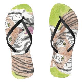 Eye of the Tiger Flip Flops